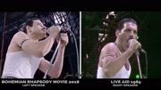 皇后樂隊《波西米亞狂想曲》電影和真實演唱會現場100%對照剪輯