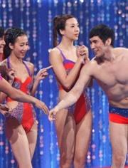 女明星玩跳水,畫圈的地方注意看,你懂的
